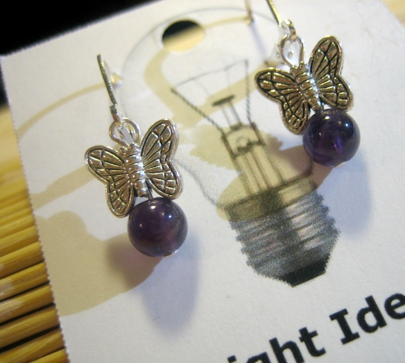 amethyst and sterling silver plate